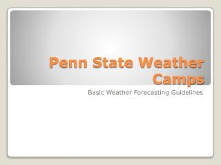 Penn State Weather Camps
