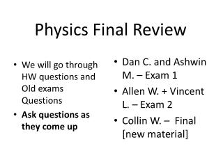 Physics Final Review