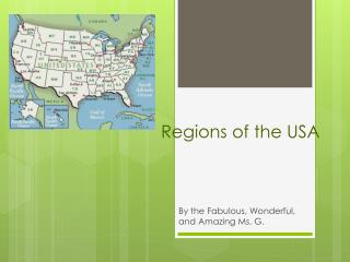 Regions of the USA