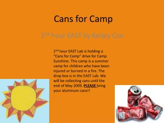 Cans for Camp
