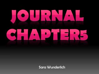 Journal Chapter5