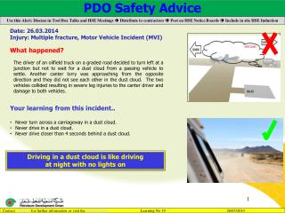 PDO Safety Advice