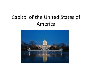 Capitol of the United States of America