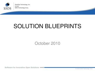 SOLUTION BLUEPRINTS