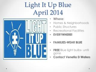 Light It Up Blue April 2014