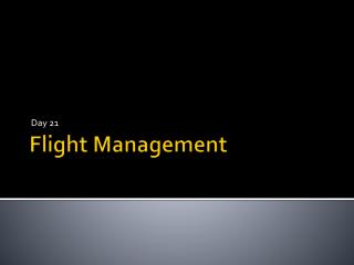 Flight Management