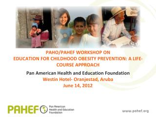 PAHO/PAHEF WORKSHOP ON EDUCATION FOR CHILDHOOD OBESITY PREVENTION: A LIFE-COURSE APPROACH