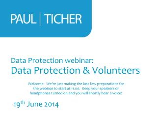 Data Protection webinar: Data Protection & Volunteers