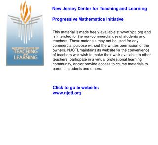 Click to go to website: njctl