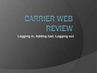 Carrier Web Review