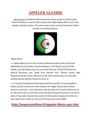 appeler algerie