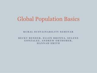 Global Population Basics