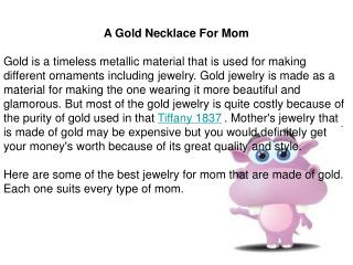 A Gold Necklace For Mom