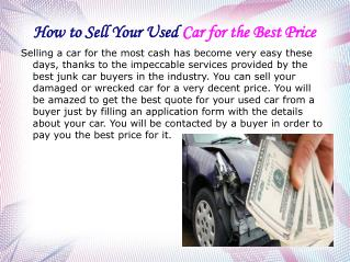 How to Sell Your Used Car for the Best Price