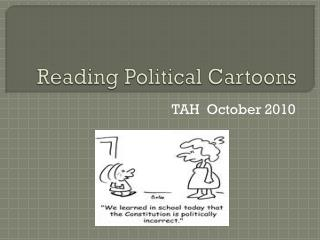 Reading Political Cartoons