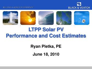 LTPP Solar PV Performance and Cost Estimates