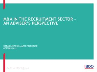 M&A in the recruitment sector –  An adviser's perspective