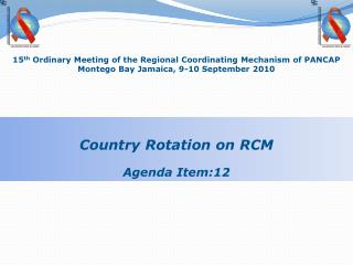 15 th Ordinary Meeting of the Regional Coordinating Mechanism of PANCAP