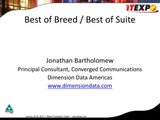 Best of Breed / Best of Suite