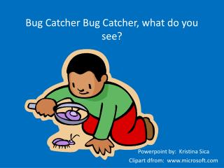Bug Catcher Bug Catcher, what do you see?