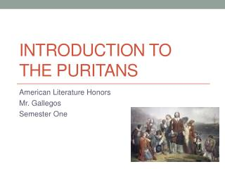 Introduction to the puritans