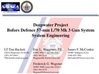 Deepwater Project Bofors Defence 57-mm L/70 Mk 3 Gun System System Engineering