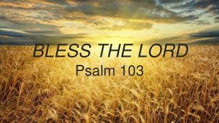 Bless The Lord P salm 103