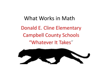What Works in Math