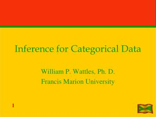 Inference for Categorical Data