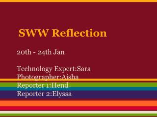 SWW Reflection