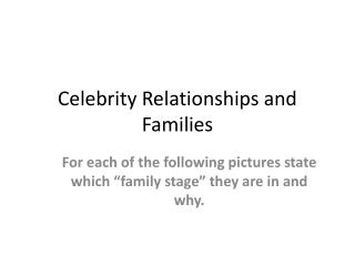 Celebrity Relationships and Families