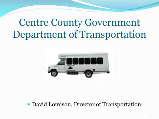 Centre County Government Department of Transportation