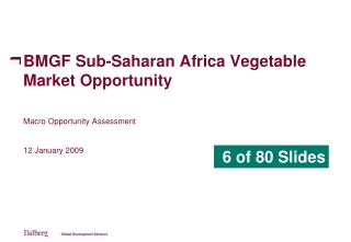 BMGF Sub-Saharan Africa Vegetable Market Opportunity