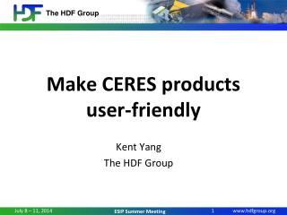 Make CERES products user-friendly