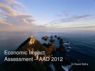Economic Impact Assessment – AAD 2012