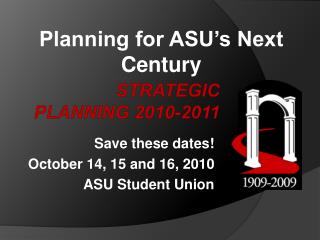 Strategic Planning 2010-2011