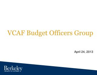 VCAF Budget Officers Group