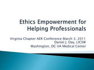 Ethics Empowerment for Helping Professionals