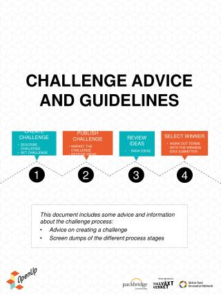Challenge ADVICE  AND GUIDELINES