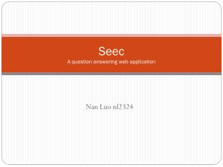 Seec A question answering  web application