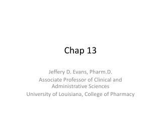 Chap 13