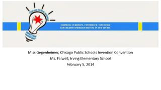 Miss  Gegenheimer , Chicago Public Schools Invention Convention