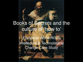 Books of Secrets and the culture of 'how to'