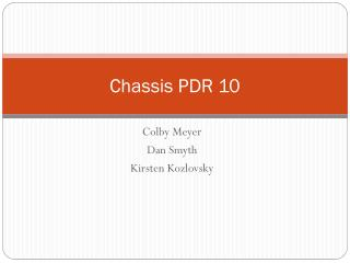 Chassis PDR 10