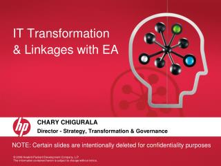 IT Transformation & Linkages with EA