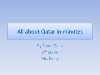 All about Qatar in minutes