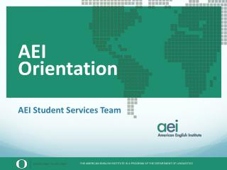 AEI Student Services Team
