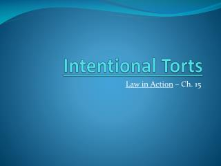 Intentional Torts