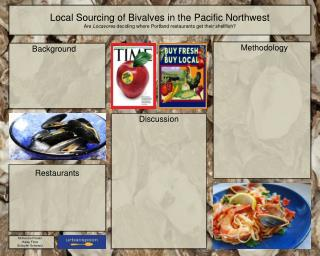 Local Sourcing of Bivalves in the Pacific Northwest