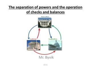 The separation of powers and the operation of checks and balances